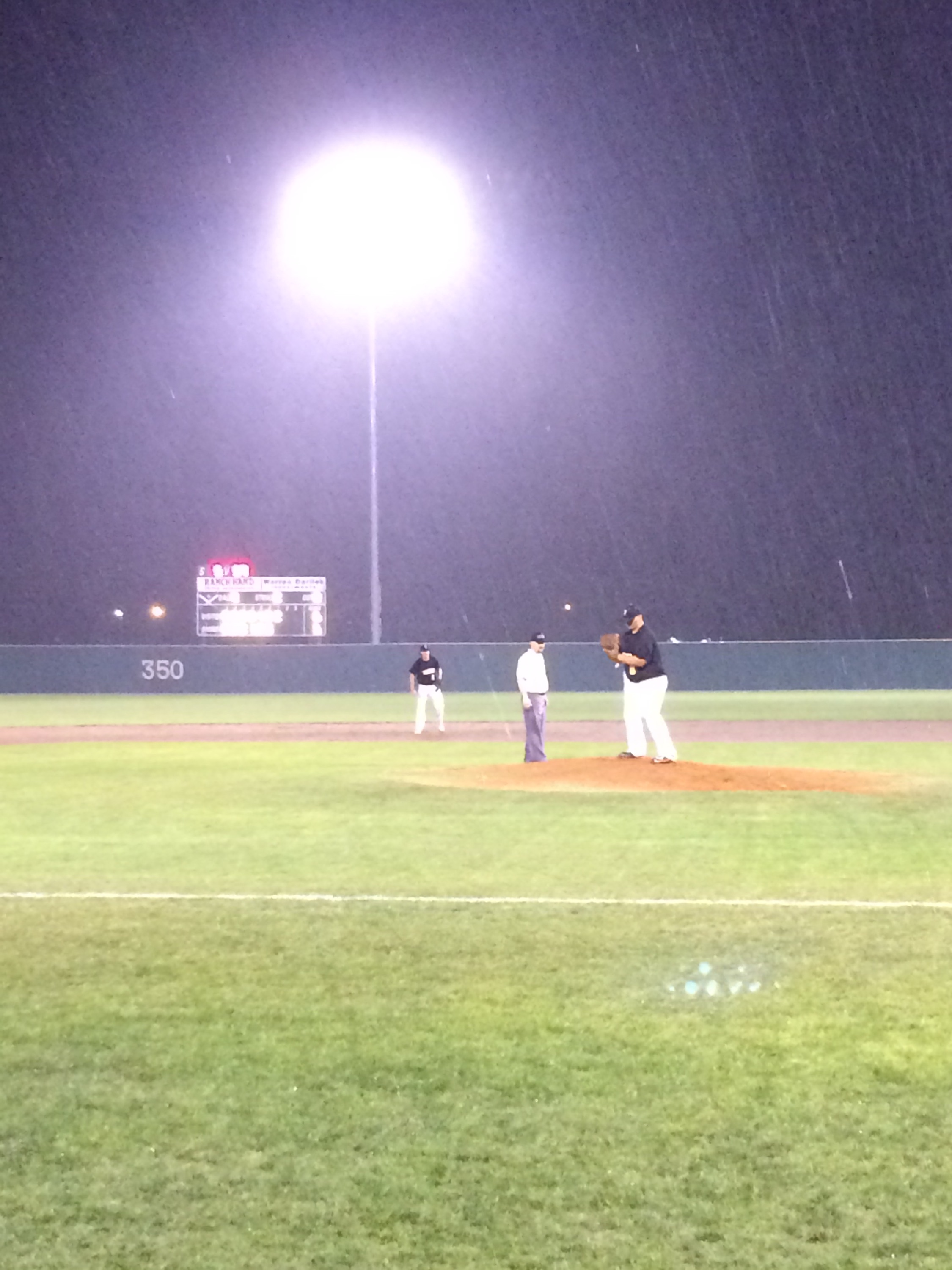 Baseball in the rain
